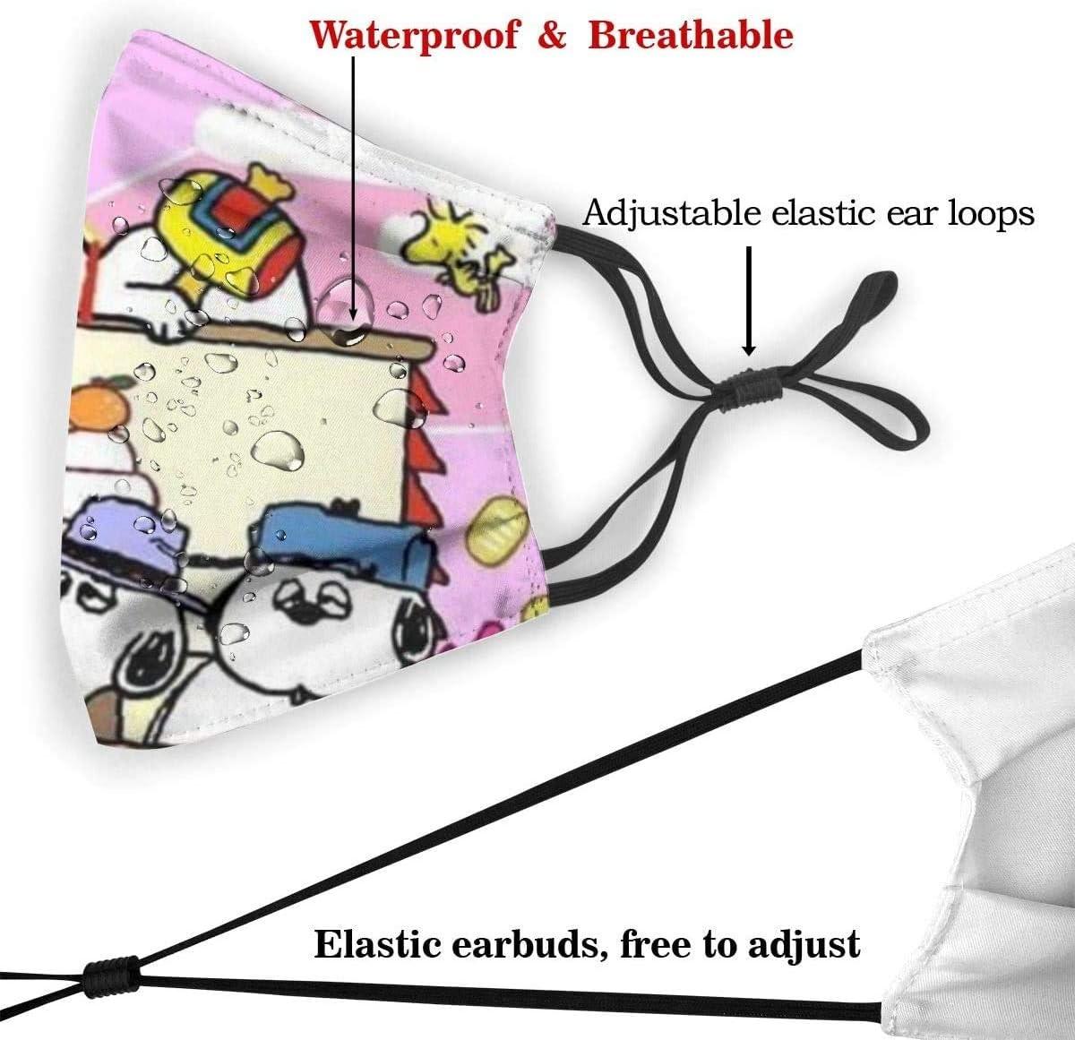 Bunter Stich Mundschutz mit Filter Unisex Anti-Staub waschbar Wiederverwendbarer Mundschutz f/ür Kinder Jugendliche Erwachsene 6.9 x 5.1 Zoll
