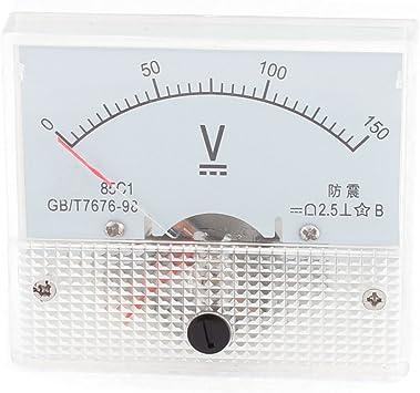 85C1 0-300V DC Rectangle Analog Volt Panel Meter Gauge