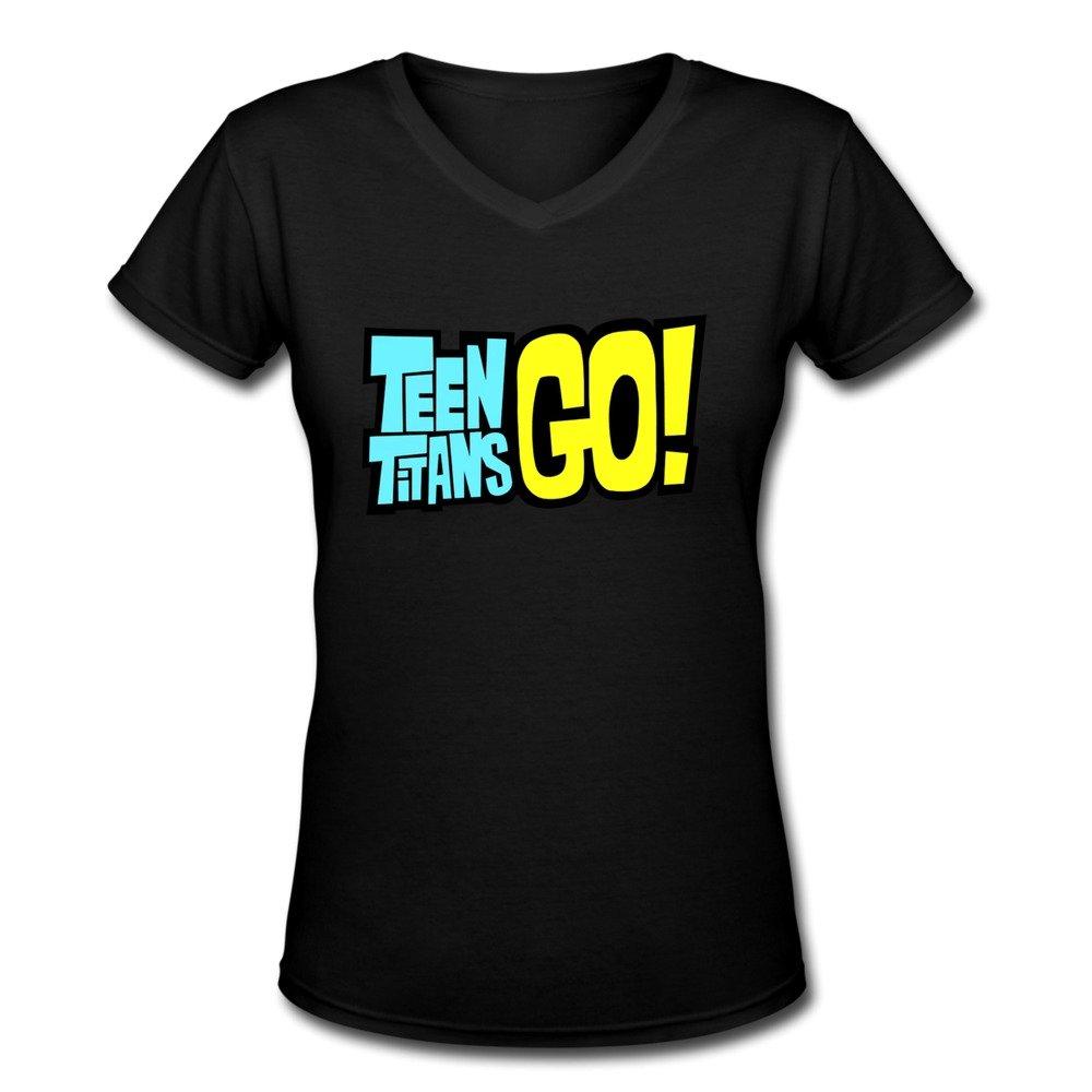 KEIKO Women's Teen Titans T-shirts V-Neck