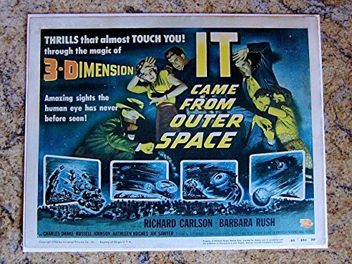 It Came From Outer Space Linen Backed Title Card