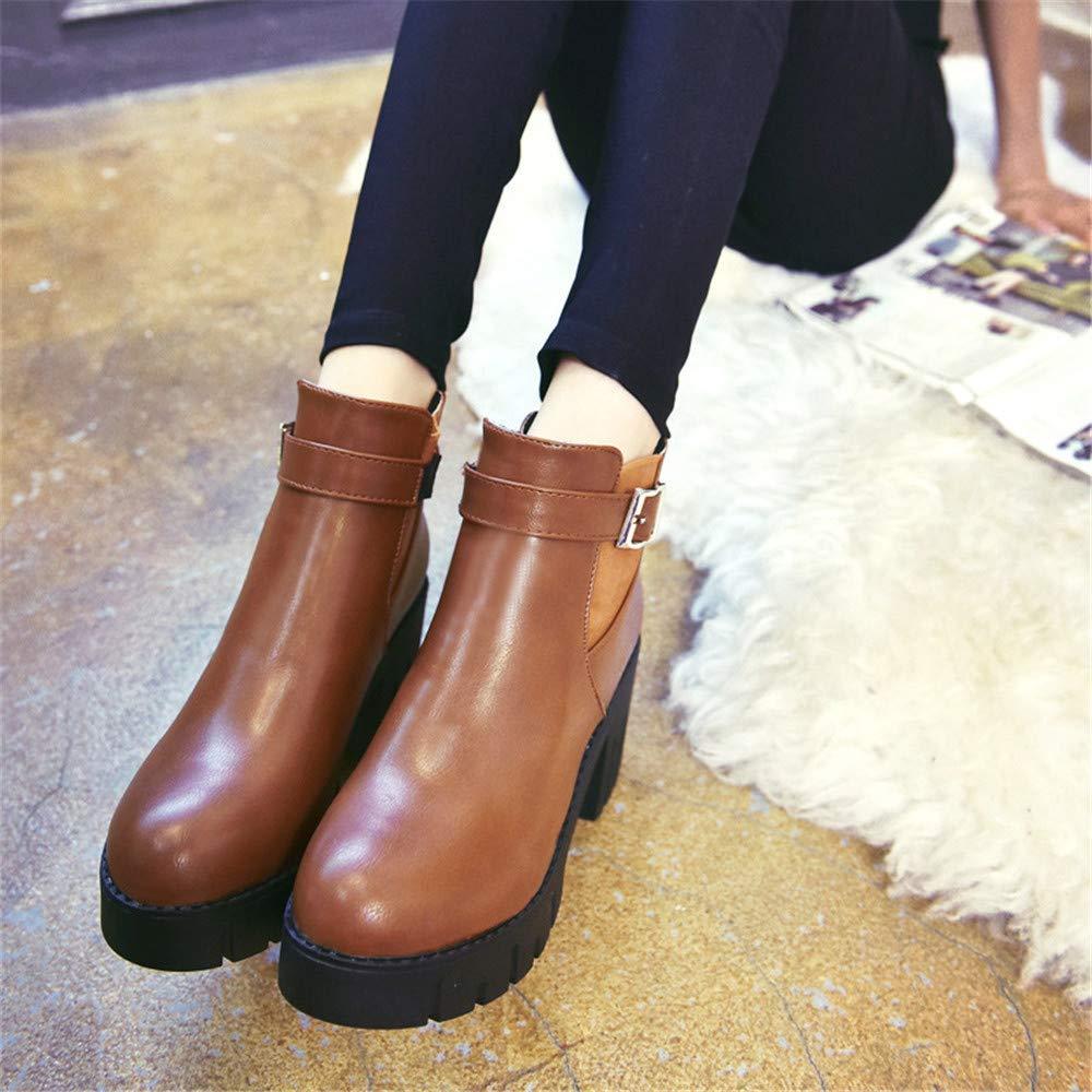 Eeayyygch High Heels Heels Heels Martin Stiefel Frauen Casual Wilde Damen Stiefel Bequeme Low-Cut-Baumwolle Stiefel (Farbe   37, Größe   Grau) b2b194