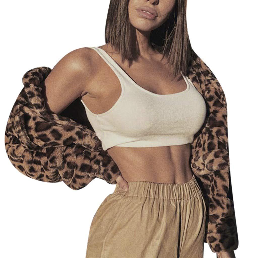 Mlide Womens Brown New Fashion Leopard Furry Warm Sweater ...
