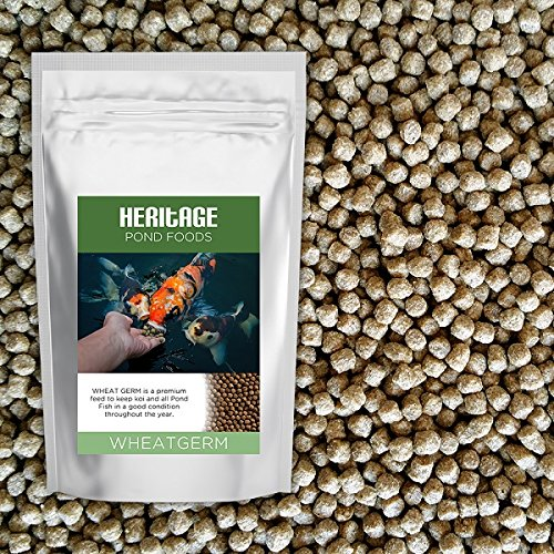 HERITAGE WHEATGERM HEALTH PREMIUM KOI FISH FOOD PELLETS GARDEN POND FEED (5kg) Heritage Pet Products