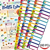 #9: 180 Pcs Baby Bottle Labels for Daycare, Waterproof, Self-lamination, Write-on, Fun Design