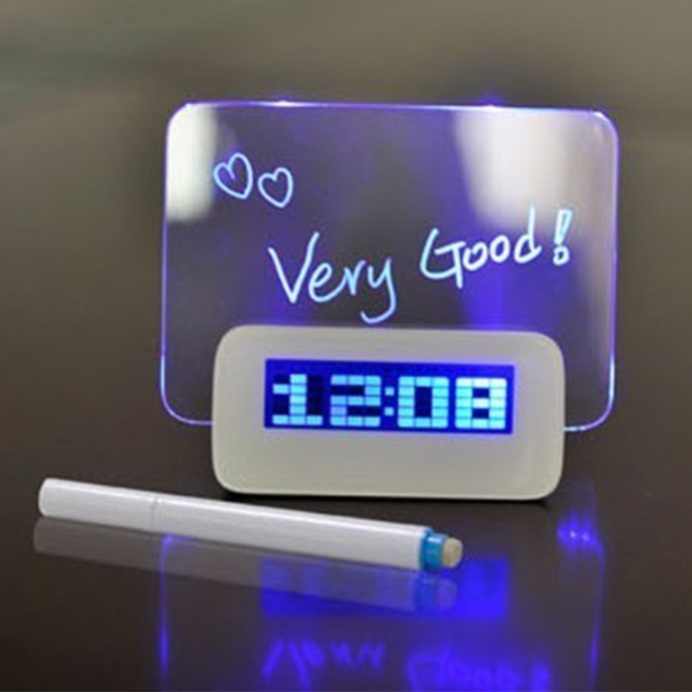 sinohome LED Digital mensaje Junta Despertador con Hub USB ...