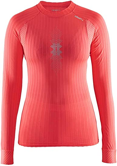 Craft Active Extreme 2.0 Brilliant Camiseta térmica, Mujer, Shock/Silver, M: Amazon.es: Ropa y accesorios