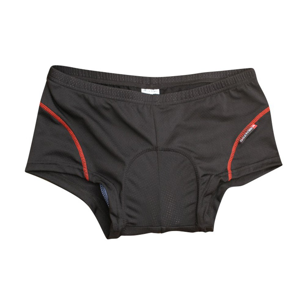 BADI NA Mens 3D Padded Sponge Coolmax Bicycle Cycling Underwear Shorts Black 4XL by BADI NA (Image #5)