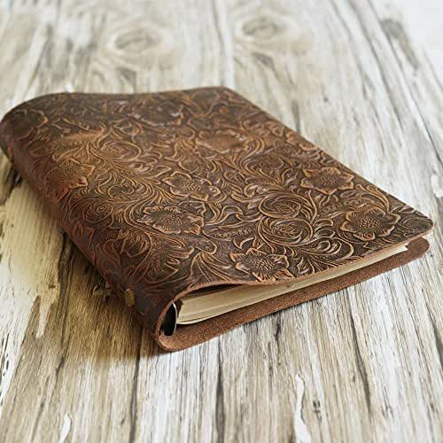 Amazon.com: Simple A5 6-ring Binder Notebook, Leather