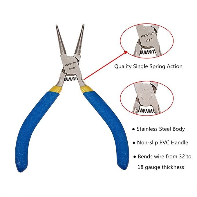 Amazon.com: BENECREAT BC-803 Nose Pliers Jewelry Plier for Jewelry Making, 5