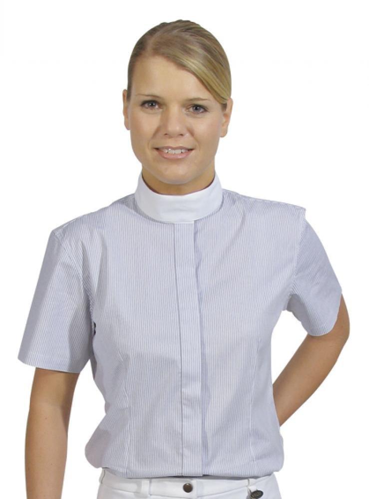 HKM Damen ReitBlause-Elastik, ReitBlause-Elastik, ReitBlause-Elastik, 1 4 Arm, weiß Gestreift uniform, S B01F22RHTM Jacken Markenschmaus a67509