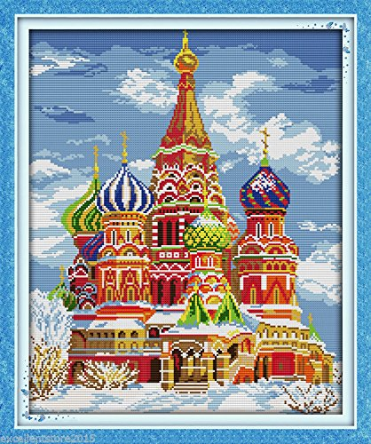 [The Arab palace DIY Embroidery Kit Precise Printed Needlework Cross stitch] (Arab Embroidery)