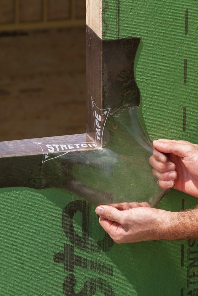 Huber Zip System Stretch Tape | Self-Adhesive Flexible Flashing for Doors-Windows B01M7VJNC8 | 10 inch x 75 feet