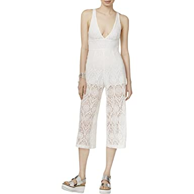 5a06ba51d0f1 MINKPINK womensIM17S2561Desert Sunset Lace Jumpsuit Solid Opaque Sleeveless  Jumpsuit - White - XS  Amazon.co.uk  Clothing