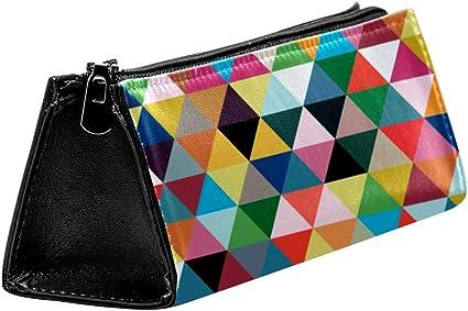 EZIOLY - Estuche para lápices o cosméticos (diseño geométrico, con cremallera): Amazon.es: Oficina y papelería