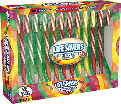 LifeSavers 5 Flavors Assorted Candy Canes, 12 ct