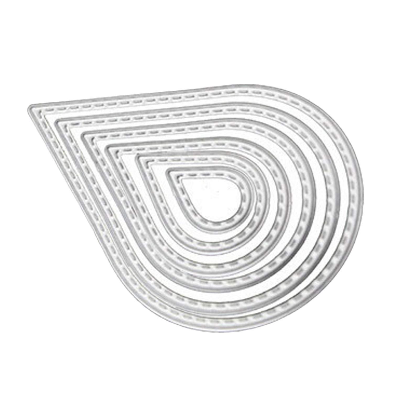 Scrapbooking Dies 6Pcs En Acier Au Carbone Goutte DEau Gaufrage D/éCoupe Matrices Stencils Mod/èLes Moule Pour Diy Scrapbooking Album Carte Papier
