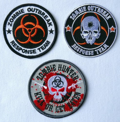 Zombie Outbreak Response Team Biohazard [Set of 3 Patches]