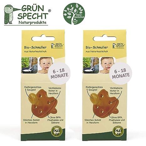 Gruenspecht - Chupete ecológico de caucho natural 6-18 meses ...