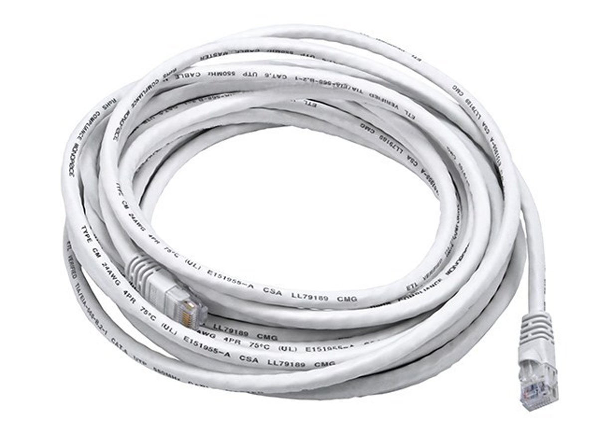 Monoprice 25ft 24awg Cat6 550mhz Utp Ethernet Bare Cableorganizer Cat5e Patch Cable 14ft Blue Copper Network White Computers Accessories