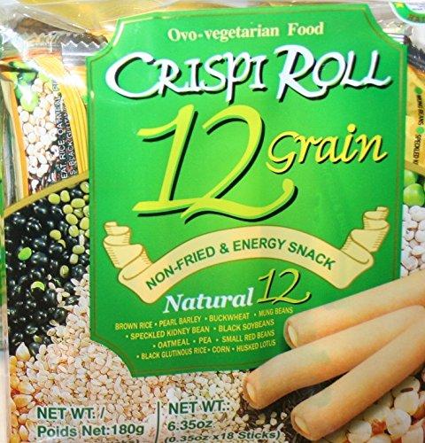 Ovo-Vegetarian 12 Grain Crispi Non-Fried Rolls (18 rolls) 1 Pack