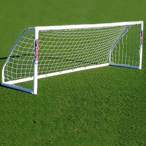 12 X 4ft 5 a Side Football Goal - Includes net, locking system, net clips and ground anchors Samba