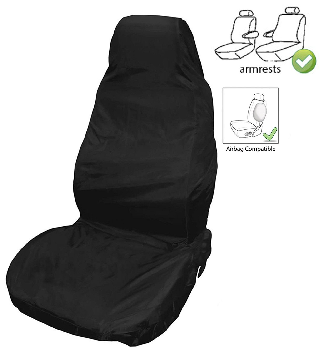 XtremeAuto Lorry/Truck/Bus Front Water Resistant Seat Cover - Heavy Duty & Comfortable For Long Distance Travelling (2) XtremeAuto®