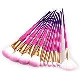 fasloyu Brushes New Arrival 5Pcs Purple-Blue Pro Foundation Eyeshadow Contour Eye Lip Makeup Brushes Set