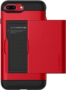 Spigen Slim Armor CS Designed for iPhone 8 Plus Case (2017) / Designed for iPhone 7 Plus Case (2016) - Red