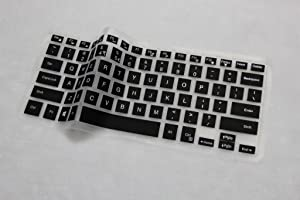 """YoBest Silicone Keyboard Cover Protector Skin For 15.6"""" Dell XPS 15 15-9550 (Balck)"""