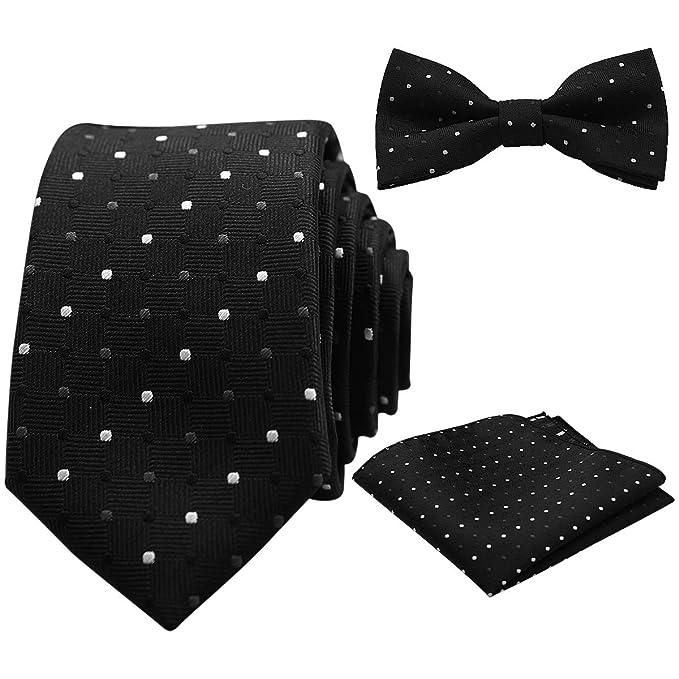 Conjunto de corbatas, pajaritas, y pañuelos de bolsillo para negocios, ocasión formal, boda, fiesta.