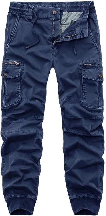 UUYUK Men Casual Loose Fit Color Block Jogger Harem Pants Sweatpants