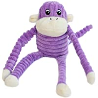 ZippyPaws Spencer Crinkle Monkey, Purple, Small 28 X 10cm