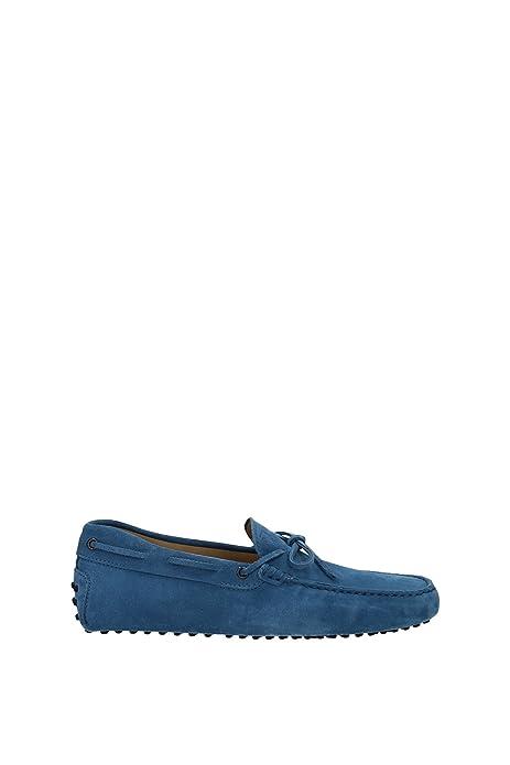 XXM0GW05470RE0U218 Tods Mocasines Hombre Gamuza Azul: Amazon.es: Zapatos y complementos