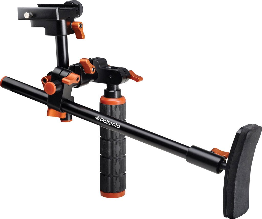 Polaroid Video Chest Stabilizer Support System For The Pentax Q, Q7, Q10, K-3, K-50, K-500, X-5, K-01, K-30, K-X, K-7, K-5, K-5 II, K-R, 645D, K20D, K200D, K2000, K10D, K2000, K1000, K100D Super, K110D, *ist D, *ist DL, *ist DS, *ist DS2 Digital SLR Camer