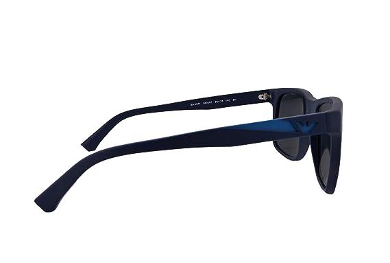2e9e2c581790 Emporio Armani EA4071 Sunglasses Matte Blue w Gray Lens 550487 EA 4071 For  Men  Amazon.co.uk  Clothing
