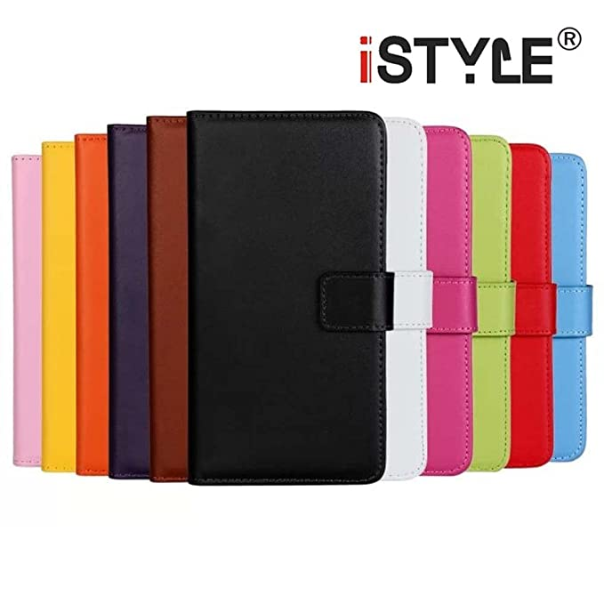 1 opinioni per CATOE Luxury Genuine Leather Wallet Folio Stand Flip Case with Card Slot for
