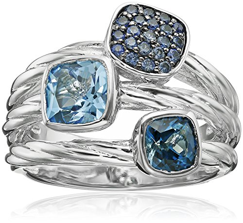 sg-sterling-silver-14k-yellow-gold-multi-blue-topaz-and-light-sapphire-ring-size-7