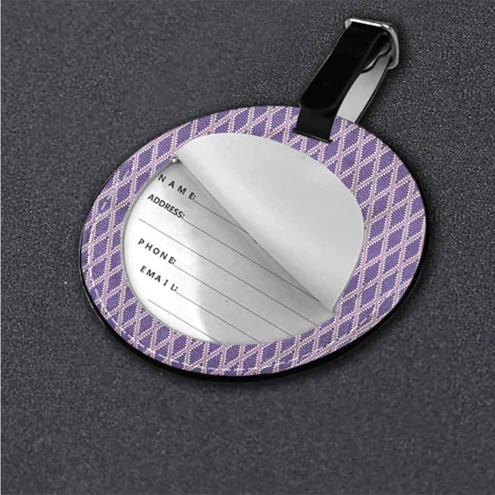 Baggage Tag Geometric,Tile Pattern Stripes Creative gifts