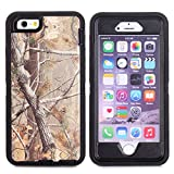 For iPhone 6S Plus Case, JOBSS [CAMO SERIES] [Heavy Duty] iPhone 6S Plus / 6 Plus (5.5 INCH) Case Hybrid Impact Defender Rugged Full Body Shockproof Hard Cover Shell Built-in Screen Protector [Black]