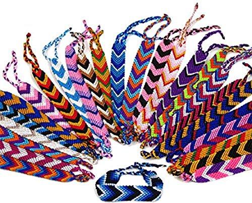 Artisan Made Woven Friendship Bracelet String Thread Wide Arrow 50 Lot Bulk Wholesale Pack School Party Favor