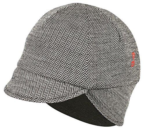 Pace Sportswear Reversible Wool Hat, Black/Mini Herringbone