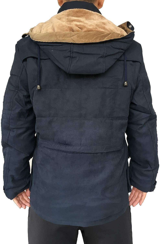 afabd9792 Mr.Stream Men's Mid Length Windbreaker Hooded Casual Coat Outerwear Fleece  Military Parka Sherpa Jacket at Amazon Men's Clothing store: