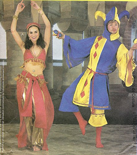 Mccall's Costume Pattern 2814 Size Y (Sml-med) Misses'-men's-teen Boy's Jester & Belly Dancer