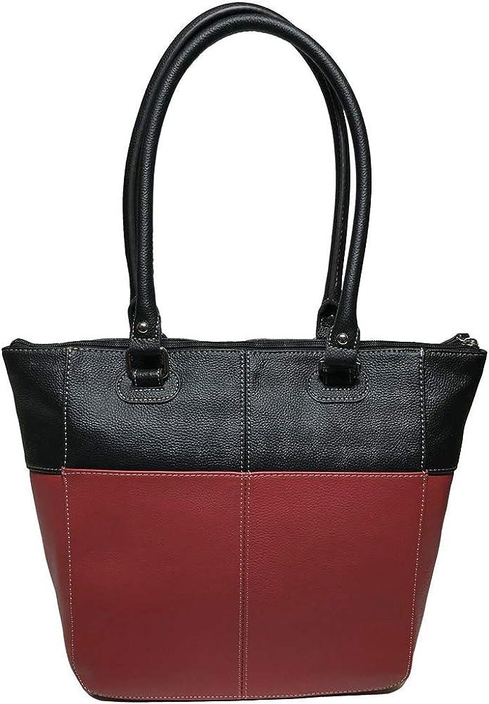Tignanello Perfect Pockets Medium Tote Rouge//Black