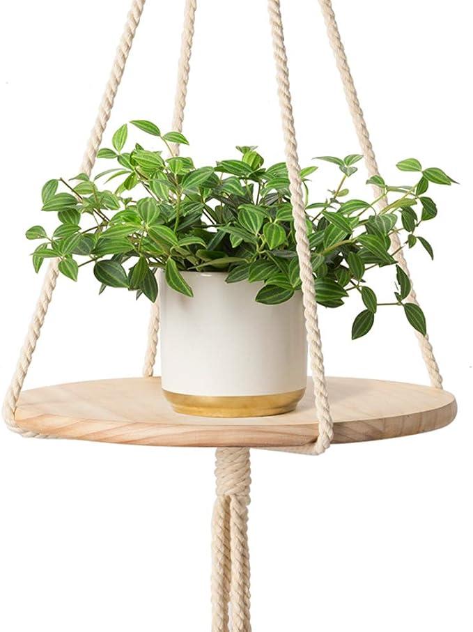 Mkono - Estante colgante de madera para macramé de interior ...