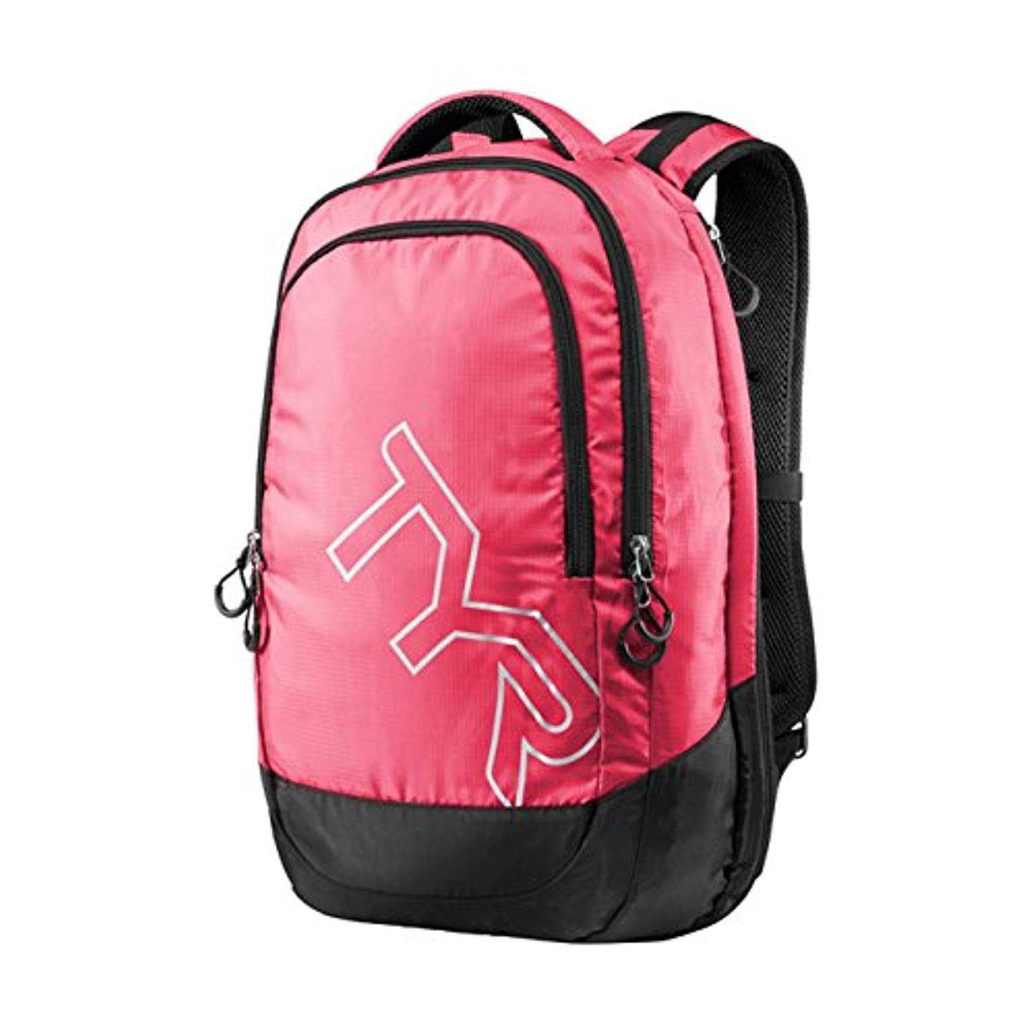 Swim Bundle: TYR Victory Backpack Pink/Black All & Swimming Earplugs by Competition Swimwear