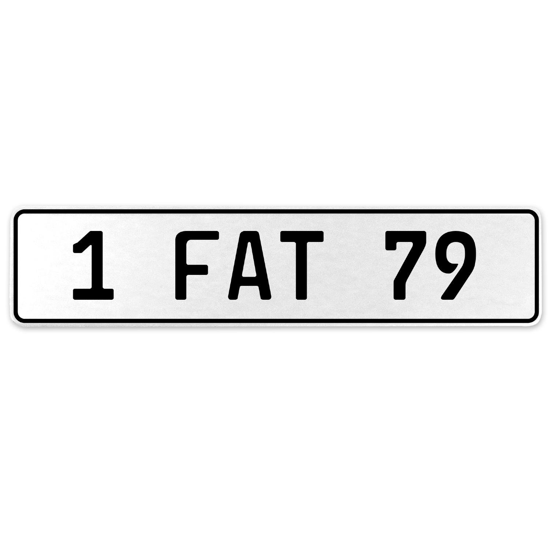Vintage Parts 554676 1 Fat 79 White Stamped Aluminum European License Plate