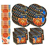 Basketball Star Birthday Party Supplies Set Plates Napkins Cups Tableware Kit for 16