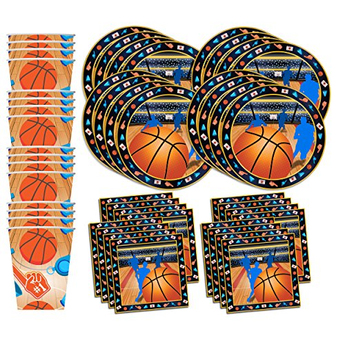 Basketball Star Birthday Party Supplies Set Plates Napkins