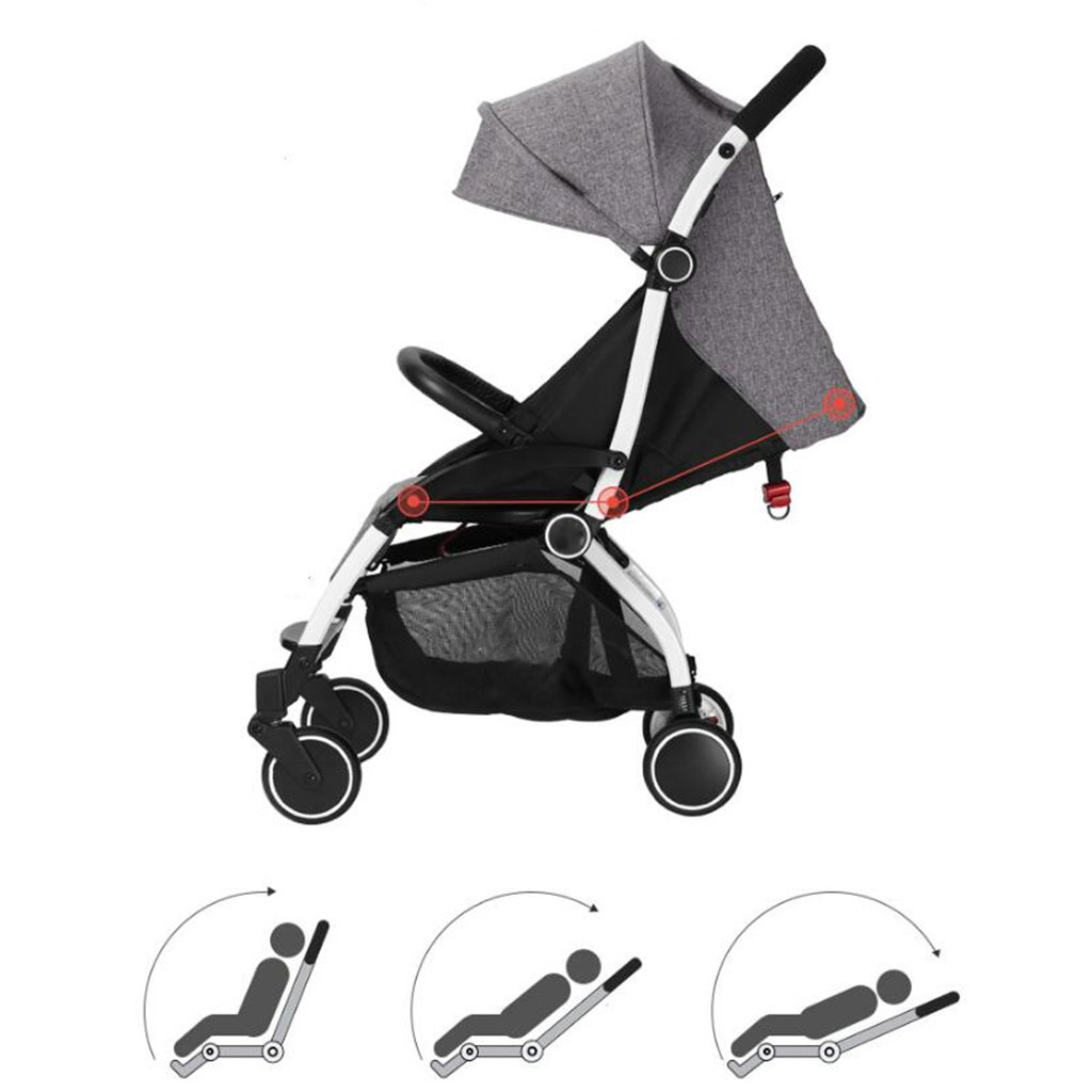 Amazon.com : MEI Baby Trolley Baby Stroller Seated Horizontal ...